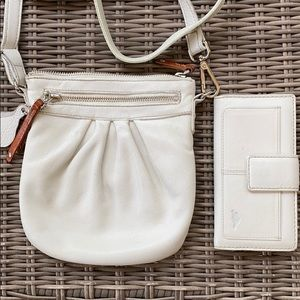 Roots crossbody bag and matching wallet
